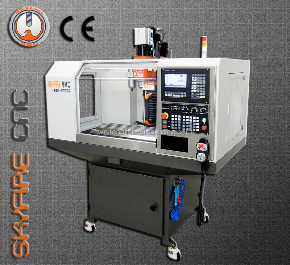 SKYFIRE High Extense Strength cnc bed milling machine with high efficiency for sale-SVM-2 Mini VMC