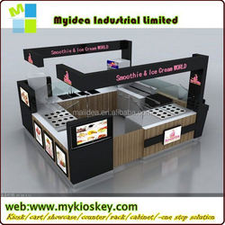 Customized coffee shop furniture CE approved coffee cart for sale coffe cart