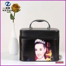 antique style large capacity beauty cosmetic case lady's korean cosmetic box