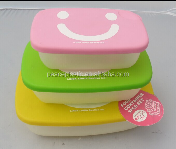 3pcs plastic container