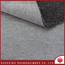 100% Polyester Solid Color Super Soft Sherpa Bonded Fleece Fabric/Spunbond Fabric