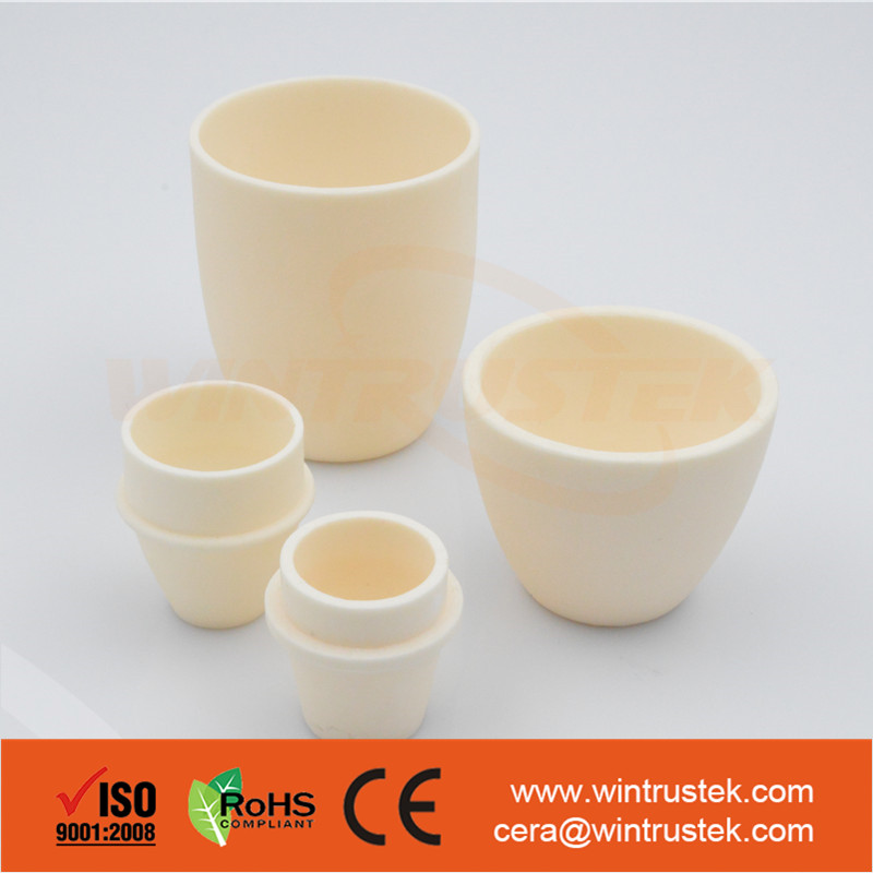 High Temperature / Cylindrical / Alumina / AL2O3/Aluminum Oxide Ceramic Crucible / For Melting Glass / Metals / Chemicals