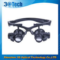DH-87001 magnifying glass with headband 10x led loupe
