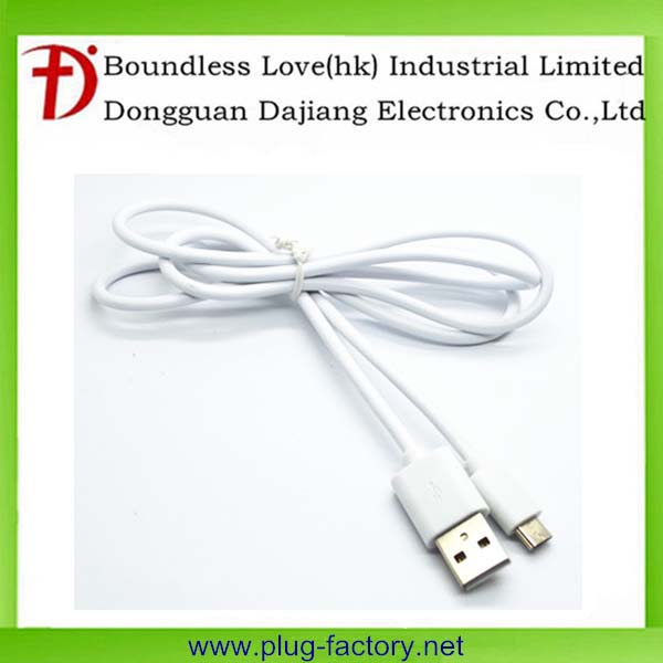 Wholesale Android & ios data wire/Roungd micro usb cable white color