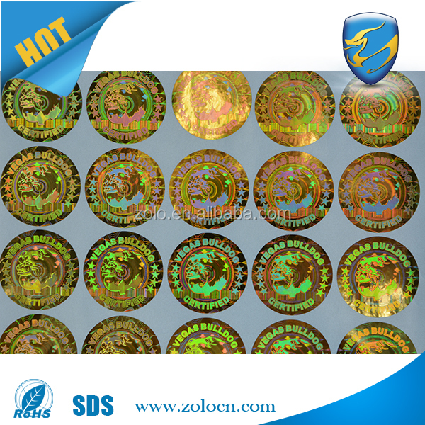 ZOLO new items PET material Custom 3d Hologram Sticker, stickers for car