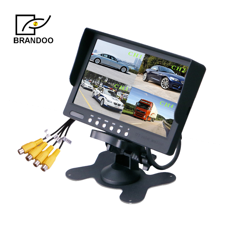 7 inch 4 channel <strong>quad</strong> CAR monitor BD-7003Q