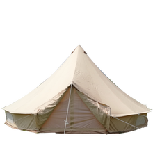 Canvas Bell <strong>Tent</strong> 6m 5m 4m Glamping Cotton Outdoor Waterproof Large Family Camping <strong>Tent</strong> Folding Collapsible Luxury Marquee <strong>Tent</strong>