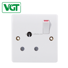 BS Standard Wall Switches &Socketes China Manufacture 1 gang 15A switched socket 220v-250V