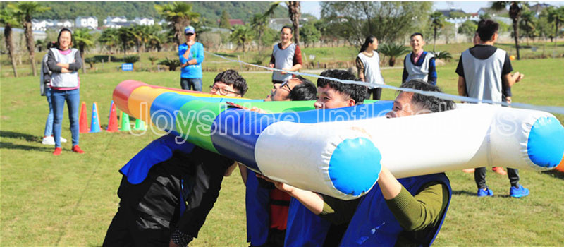 Outdoor Interactive Climbing Sports Inflatable Tube Team Building Activities Equipment Inflatable Ladder Climb Game For Sale