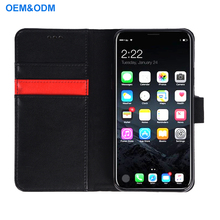 2018 OEM Wholesale Leather Cell phone Case Cover for iPhone X with Card holder
