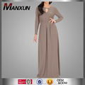 Long Sleeve Maxi Dress with Hole Design Neck Casual Long Skirt for Women Wear