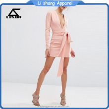 womens hotel long sleeve one-piece dress long sleeve sexy mini dress
