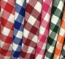 For Shirt 65% Polyester 35% Cotton Yarn Dyed Check Poplin Fabric