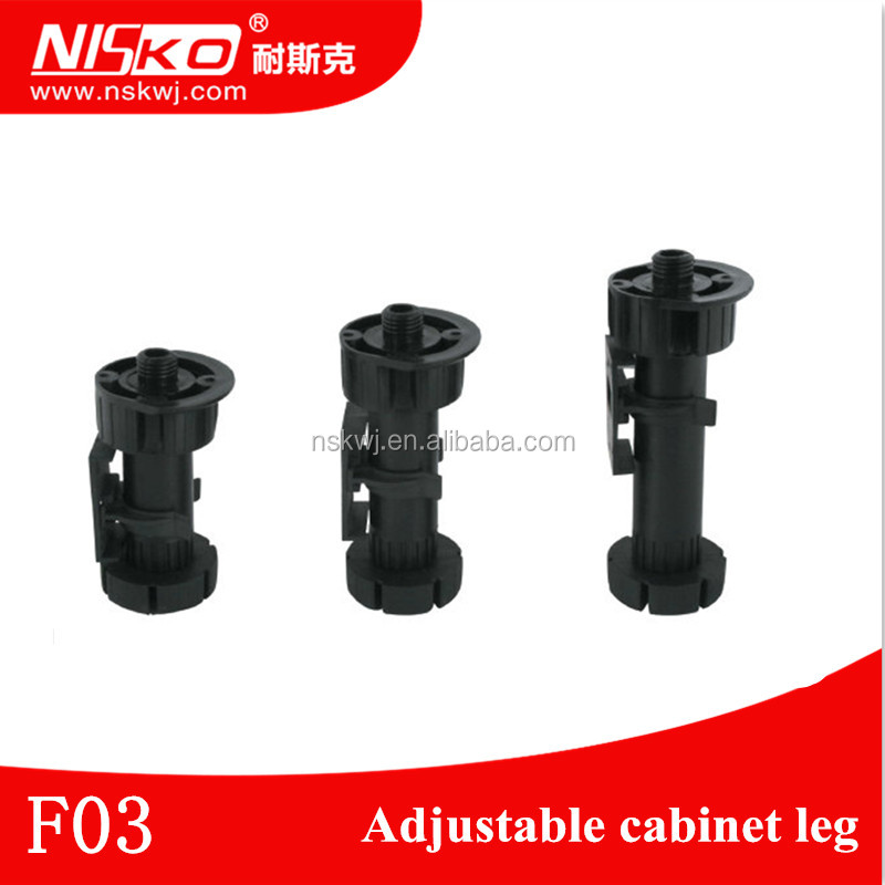 115-140mm black ABS plastic bed legs