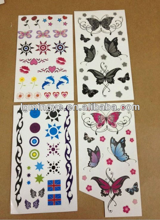 Customized lovely designs temporary eye tattoo sticker