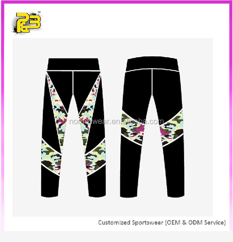OEM Cutom Sublimation Printed Fitness Yoga Athletic Leggings ladies Sports Wear Activewear Wholesale