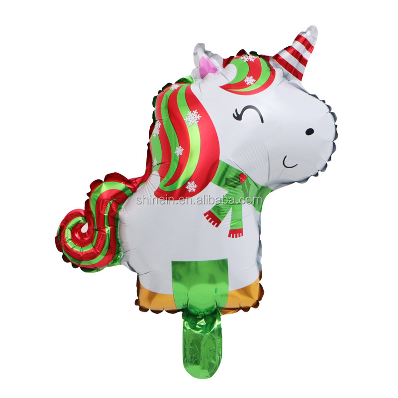 Merry Christmas party decoration hanging unicorn balloon hot selling Xmas santa claus unicorn balloon