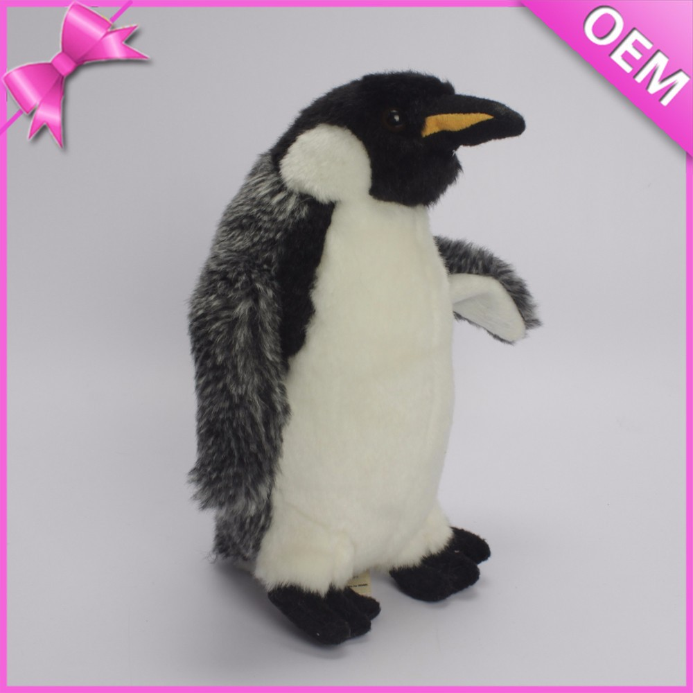 High quality CE testing walking and talking stuffed penguin plush toy, pingu soft toy