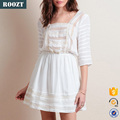 New Fashion Latest Dress Designs 3/4 Sleeve Sexy Lace Women Dresses