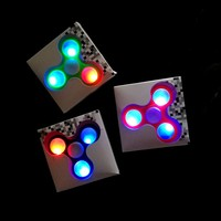LED Light Fidget Spinner Plastic EDC Hand Finger Spinner For Autism and ADHD Relief Focus Anxiety Stress Gift Toys