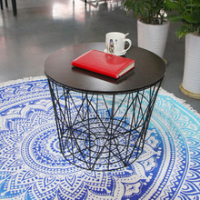 mordern style wire framed coffee table with MDF top