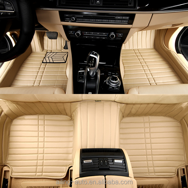Right hand drive 3d car floor mats,QIFAN high-quality beige colour car mats
