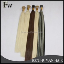 100 keratin tip human hair extension best selling i tip 100% virgin indian remy hair extensions
