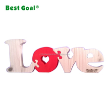 Wholesale printing LOVE magnetic wooden puzzle letter