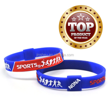 cheap custom silicone sports bracelet name brand sporting goods