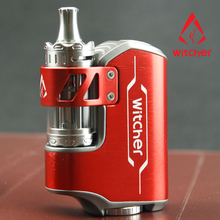 New Model!!!Rofvape 75W Witcher Resin Stabilized Wood Box Mod With 3 Coils And Replace Grass
