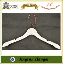 Wholesale Low MOQs Coat Hanger Rose Gold Hook Plastic Hanger