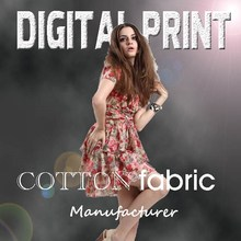 High Quality digital textile print in cotton fabric - Y