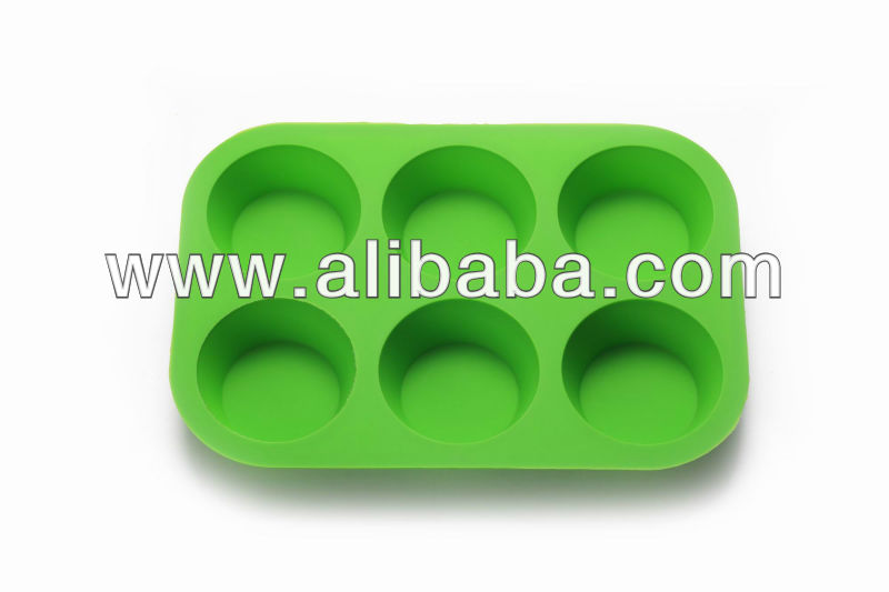 6 cup silicone cake mold and silicone muffin pans
