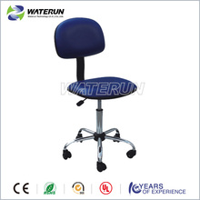 Blue industria anti static PU leather ESD chair with nylon castor