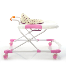 Height adjustable pusher baby walker with removable seat cushion