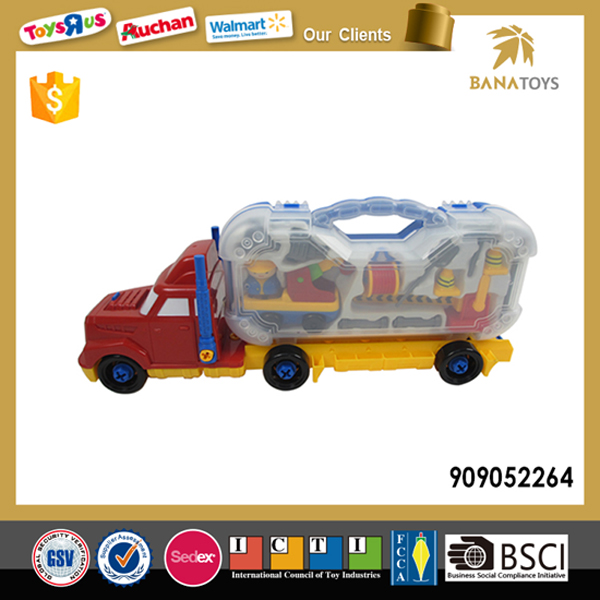 Hot sale plastic model toy container truck