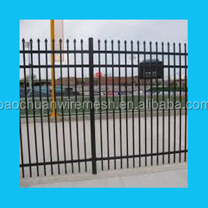 1800mm(H)*2500mm(<strong>L</strong>)power coated galvanized 3 rails steel fence