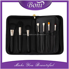 15pcs Private Label Goat Hair Professional Makeup Brushes Cosmetic Set with Leather Case