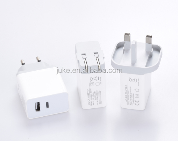 USB Wall Charger 6-Port High Speed Desktop family size TYPE C + USB 3.0 5V 3A Adapter