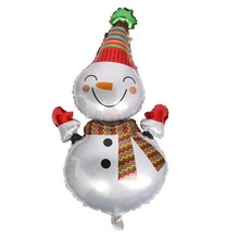 Christmas aluminum Foil Santa Claus Snowman helium Balloons Home Party Decoration Inflatable Air Balloons Gift For Kids