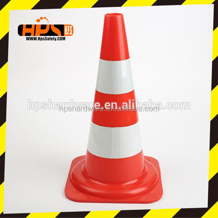 2015 Top Selling roadway safety Products Plastic reflective sheet warning Traffic Cone with reflective sleeve
