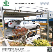 three layers car elevator parking system, portable car parking system