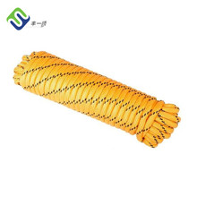 "Yellow 3/8"" Polypropylene braided water rescue rope for ice rescue"
