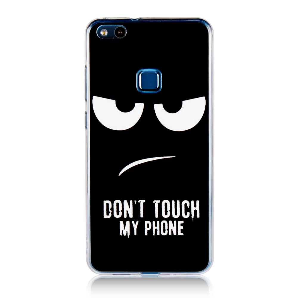 Black Angry Face Don't Touch My Phone Pattern Design Flexible Tpu Silicone Hard Plastic Case Cover For Huawei P10 Lite - Buy For Huawei P10 Lite ...