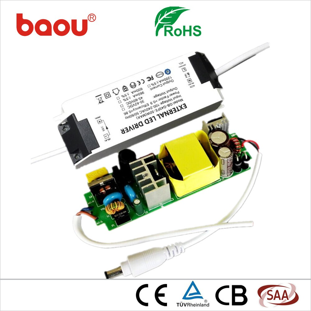 Baou High quality 36W 1000 ma LED panel light driver power <strong>supply</strong> with CE ROHS