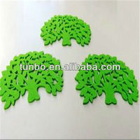 Fashion table leaf shaped suction pads clear acrylic coasters