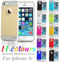 E-TREE Genuine Brushed Metal Chorme Hard Back Case For Apple iPhone 5 5s