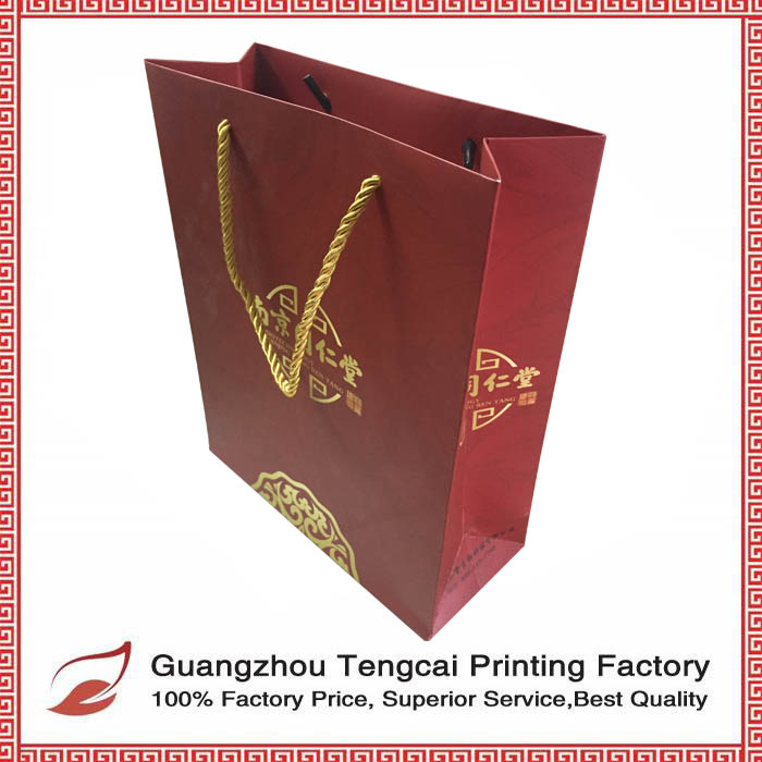 2016 hottest custom printed lucky bag paper bag