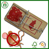Popular easy set wooden mouse trap