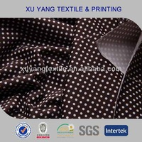 Fabric for women underwear 2014 printed dots with 86 polyamide 14 elastane